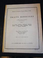 Partition Traits difficiles Cor Anglais Alphonse Leduc Music Sheet