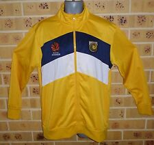 NEW MEDIUM MENS CENTRAL COAST MARINERS ZIPPED TOP TRACK TOP YELLOW See notes....