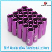 20X Purple Aluminum tuner M12x1.5 60mm for Ford FIESTA FOCUS more Wheel Lug Nuts