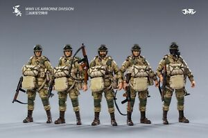 (In-Stock@ 5zeroToys) JoyToy 1/18 scale WWII US Airborne Division Set of 5