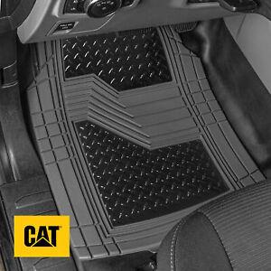Caterpillar® Black Deep Dish Rubber Car Floor Mats All Weather Spill-Capture