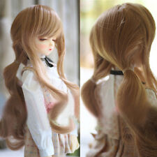 8-9'' 1/3 BJD SD Doll Wig DZ DOD LUTS Long Curly Wavy Blonde Lolita Hair Wig