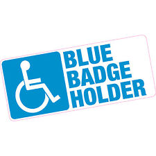 Blue Badge Holder Vinyl Sticker 200x85mm Car Motability Disability