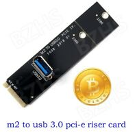 m2 to usb 3.0 transfer pci-e riser card adapter for mining machine black