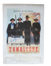 TOMBSTONE MOVIE Poster Signed by 17 castmembers Excellent white replica