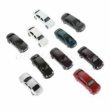 Scale 1:100 Doll House Train Layout MultiColor Painted Model Car Vehicles 10pcs
