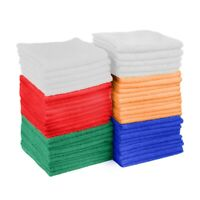 50 Pack Washcloth Towel Set 100% Cotton Face Cloths Absorbent Kitchen 12x12