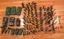 Vintage 60s Plastic Toy Soldiers Green Army Men & Other Soldiers Tanks Trucks