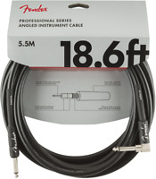 Fender Professional Guitar/Instrument Cable, Straight-Right Angle, 18.6' ft