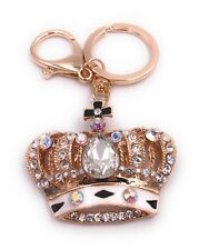 Krone König Schlüsselanhänger Anhänger Taschenanhänger aus Metall mit Steinen