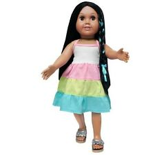 "Doll Clothes AG 18"" Dress Tri-Colored by Springfield Made For American Girl Doll"