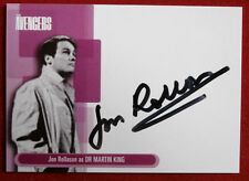 THE AVENGERS - JON ROLLASON as Dr Martin King - Autograph Card A4 - Strictly Ink