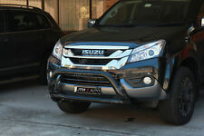 To suit Isuzu MUX MU-X Nudge Bar Black Grille Guard 2013-2018