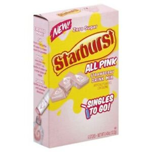 Starburst All Pink Strawberry Singles Drink Mix