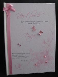Gästebuch Taufe Din A4 personalisiert Geschenkidee