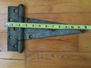 "Heavy Duty 10"" Strap Hinge Barn Door Gate Iron 2.5 Pounds"