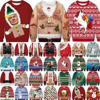Mens Womens Christmas UGLY Sweater Trump Xmas Sweatshirt Jumper Pullover Tops