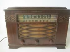 General Electric GE Shortwave/Am J-62 Tube Radio Walnut Cabinet W/Handles Works