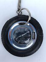 Marvin Pocket Watch Keychain Wheel Watch Manual Winding Swiss 53mm Vintage Rare