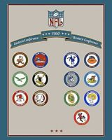 1960 NFL Football Team Logos  Color 8 X 10 Photo Picture