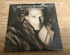 # CD 2 titres Michael BOLTON To love somebody Now that I found 1992 NEUF SCELLÉ