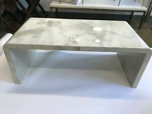 Jean Michel Frank Style natural Parchment coffee table