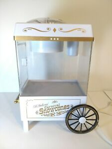 Snow Cone Shaved Ice Nostalgia Old Fashioned Carnival Snow Cone MakerTESTED