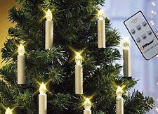 Top Race LIT10 Control Remoto Con Batería LED Velas de forma cónica de árbol de Navidad