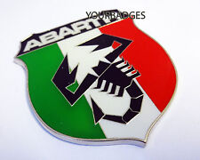Chrome Enamel Italian Flag ABARTH Badge Fiat Punto Stilo Seicento