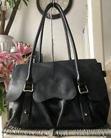 Lovely Genuine Radley Large Leather Grosvenor Shoulder / Work  Bag Black