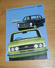 Fiat 124 Brochure 1972 - Saloon - Station Wagon - Special - Special T