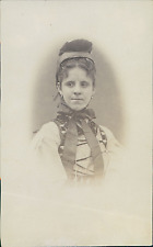 Suisse, Femme, Costume Traditionnel, Coiffure traditionnelle   Vintage albumin p