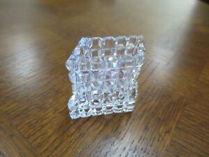 Art Deco Crystal Toothpick Holder