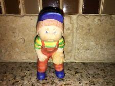 1984 Cabbage Patch Kids Porcelain Figurine Boy With Baseball Mitt CPK