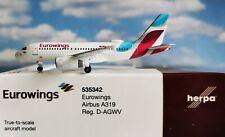 Herpa 535342 Eurowings Airbus A319 – D-AGWV - 1 500 - Neu - OVP