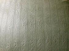 Antique French  Ecru Lace  Fabric # 3 ~ silk or blend  ~  Circa 1900