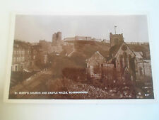 St Mary's Church And Castle Walls, Scarborough RP Vintage Postcard  #102