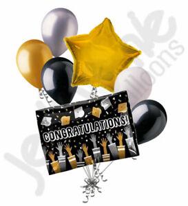 7 pc Congratulations Grad Cap Toss Balloon Bouquet Happy Graduation Congrats