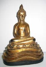 Buddha Figur, in Konzentration, sitzend in Amithaba Borobudur Hände, 16x12x7cm