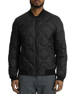 NEW $440 WINGS+HORNS BLACK NYLON RIPSTOP QUILTED 750 FILL DOWN JACKET SIZE L