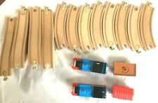 Thomas The Train Wood Track Lot 12 Pieces & 4 Trains Free Shipping