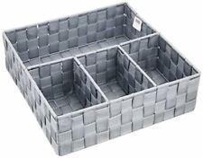 Wenko 21534100 Adria Boîte de Rangement Salle bain 4 Séparations Gris 32 0 X...