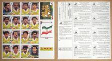 FRANCE 1998 WORLD CUP IRAN TEAM FIGURES STICKER SHEET VERY RARE ALBUM