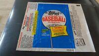 1983 Topps Baseball ORIGINAL WRAPPER - No Cards - EX