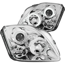 Headlight Assembly-Projector with Halo Clear Lens Chrome with Amber Reflectors
