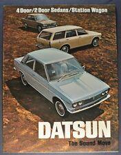 1970 Datsun Sales Brochure Folder Sedan Wagon Nissan Excellent Original 70