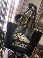 Coach Camaro ZL1 Car Emblem Leather Tote