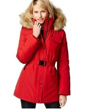Michael Michael Kors Red Belted Down Puffer Coat Size 2XL Winter Outerwear
