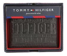 NEW TOMMY HILFIGER MEN'S LEATHER CREDIT CARD ID WALLET BILLFOLD BLACK 31TL22X034