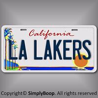 Los Angeles L A LAKERS Basketball Team Aluminum License Plate Tag California